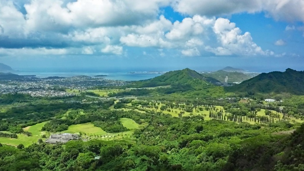 View of Windward Oahu from the Pali Lookout