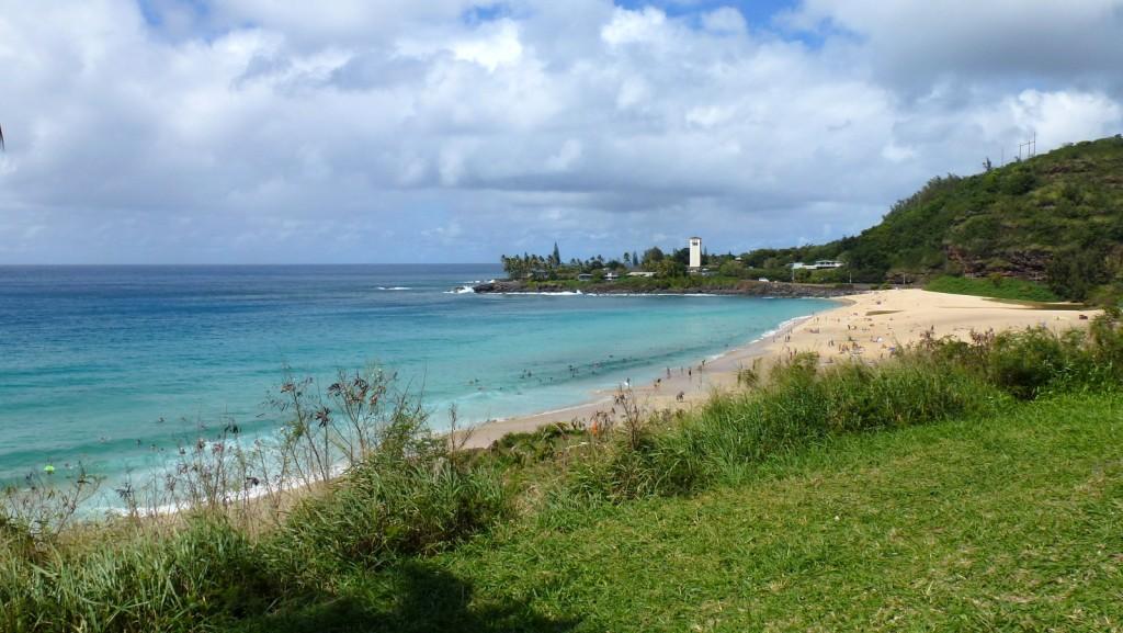 Waimea Bay on the island of Oahu
